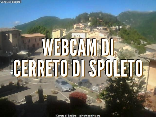 webcam di Cerreto di Spoleto